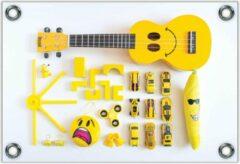KuijsFotoprint Tuinposter –Geel Kinderspeelgoed– 150x100 Foto op Tuinposter (wanddecoratie voor buiten en binnen)