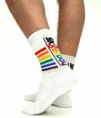 Witte Sk8erboy Gaypride Socks 43-46