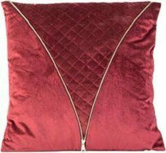 Bordeauxrode Cosy&Trendy Sierkussen zipper - 45 x 45 cm