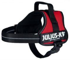 Rode Julius k9 original power-harnas voor hond / tuig voor voor labels rood mini/51-67 cm