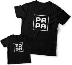 Zwarte Eenmannenkado.nl Matching shirts Vader & Zoon | Zoon Papa | Maat S Matching shirts Vader & Zoon | Zoon Papa | Maat S | Jongens T-shirt Maat 62
