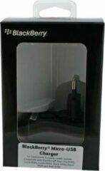Zwarte ASZ-18080-0EU BlackBerry Travel Charger incl. EU Clip Micro USB Black