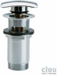 Clou InBe stop go afvoerplug met overloopgat vierkant chroom Universeel toepasbaar B6.9xD6.9cm IB/06.51006
