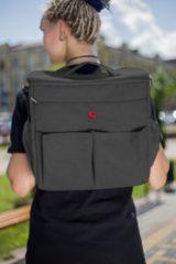 Gold Baby Multi Luiertas Donkergrijs - als rugzak, schoudertas en als handtas te gebruiken.