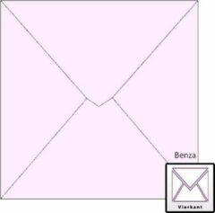 Benza Wenskaart Enveloppen - Vierkant 14 x 14 cm - Lila - 50 stuks