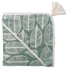 Groene Witlof for kids hydrofiel badcape 100x100 cm Beleaf sage green
