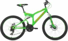 "Ks Cycling Fiets KS Cycling fiets mountainbike 24"" XTRAXX groen-oranje - 43 cm"