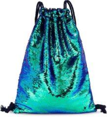 Pailletten-Rucksack von Cox in türkis für Damen