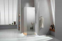 Vips douchewand met semi spiegel/helder CE gekeurd veiligheidsglas SE-02-100 100x200cm