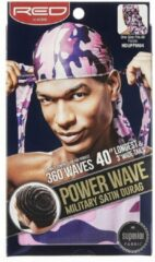 Paarse Red by Kiss Durag Military Satin Power Wave