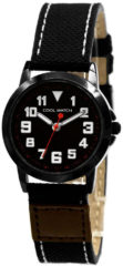 Coolwatch by Prisma CW.245 Kinderhorloge Jort staal/canvas zwart 30 mm
