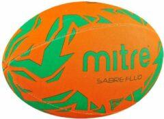 Rugbybal Mitre Sabre Fluo - Oranje/Groen - Maat 5