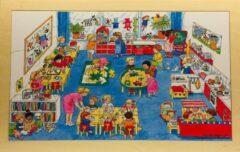 De K van Kinderen Houten framepuzzel Bas in de klas