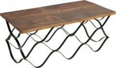 Bruine Raw Materials Factory Wave Salontafel - Gerecycled hout - 120x60x49 cm