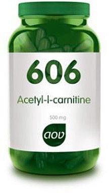 Afbeelding van AOV 606 Acetyl-L-carnitine (500 mg) - 90 vegacaps - Aminozuren - Voedingssupplementen