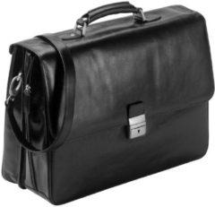 Aktentasche Leder 42 cm Laptopfach Dermata schwarz