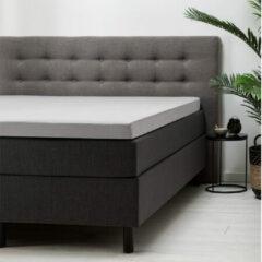 Witte Fresh & cold Topper Hoeslaken - Grijs - 80x200 cm - Katoen - Fresh & Co