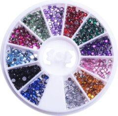 GUAPÀ - Nail Art Rhinestones & Nagel Glitters - Multi Color Wheel