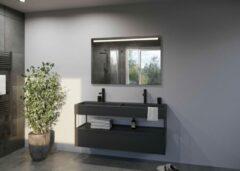 Zilveren Glaskoning.nl Spiegel met LED verlichting   120x80 cm   LUCE