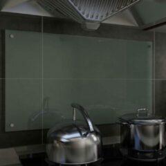 VidaXL Spatscherm keuken 90x50 cm gehard glas wit