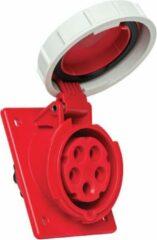"""Mete - CEE female - inbouw - schuin - 5 polig 6H 16A IP67 - waterdicht - kracht - rood - stekker 380-415VAC """