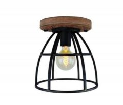 Freelight Plafondlamp Vintage Black Steel 25cm