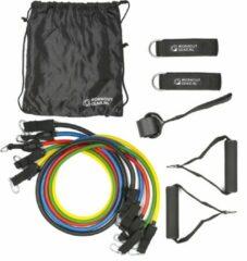 Zwarte Workout Gear ® Workout Gear - Tube Set Fitness Elastieken - Weerstandsbanden - 2-12kg