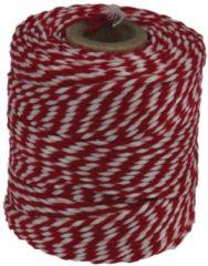 Merkloos / Sans marque Katoentouw, rood-wit, klos van 50 g, ongeveer 45 m