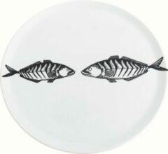 Witte Bord aan Tafel - Serveerbord Twee Vissen 32cm