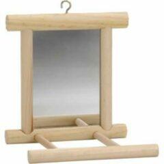 Beeztees Landspiegel - Vogelspeelgoed - Hout - 10x10 cm