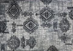 HSM Collection Vloerkleed - 180x120 cm - katoen - grijs