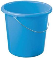 Blauwe Sunware basic emmer 10ltr blauw emmers