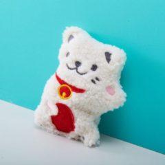 Rode Bitten Handwarmer Pocket Size pittenzak - Lucky Cat