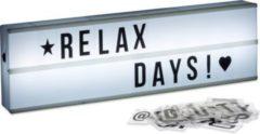 Relaxdays Light Box mit Buchstaben