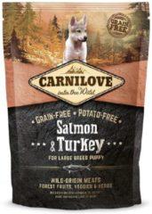 Carnilove Zalm & Kalkoen Pup Large Breed 1,5 kg
