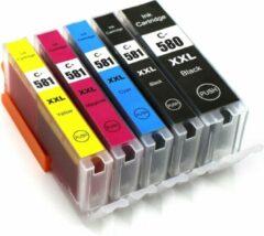 Cyane HammerTECH Cartridge PGI-580XL / CLI-581XL - set van 5 – kleur en zwart