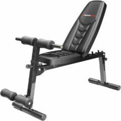 Zwarte Sportstech halterbank BRT500 - inklapbaar fitnessapparaat - halter bench - buiktrainer - rugtrainer