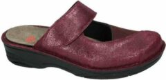 Bordeauxrode Berkemann Stretch pantoffel muilen, sloffen of clogs Dames Clogs Rood Maat 39.5
