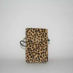 Kosmeoo Bags - Crossbody tas - Handgemaakt - Italiaans leer - Annemieke Panterprint Bruin
