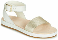 Witte Clarks Women's Botanic Ivy Flat Sandals - Cream Combi - UK 6 - White