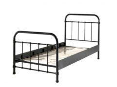 Zwarte Beddenreus bed New York (90x200 cm)