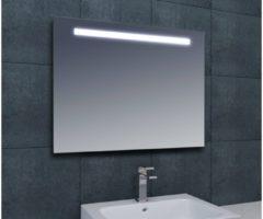 Saqu Pure Spiegelpaneel Met LED verlichting bovenzijde 60cm