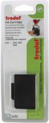 Trodat vervangkussen zwart, voor stempel 5440/5440L/5203, blister met 2 stuks