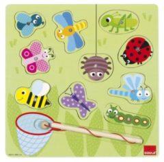 Goula insecten magneet houten vormenpuzzel 10 stukjes