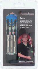 Merkloos / Sans marque 3x Dartpijlen set in opberg etui 24 grams - Darten sport artikelen pijltjes zwart/blauw