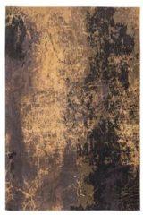 Bruine Louis de Poortere Laagpolig vloerkleed Louis de Poortere 8618 Mad Men Deep Mine 170x240 cm
