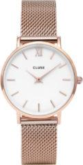 Goudkleurige CLUSE Minuit horloge van roestvrijstaal CW0101203001