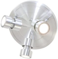 Steinhauer Lighting - Moderne Plafondlamp 3-l. Spot Led rond - Zilver