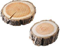 2er Set Dekorationsbaumscheiben RWH natur