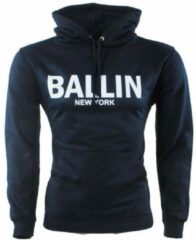Marineblauwe Ballin - Heren Trui - Capuchon - Sweat - Navy